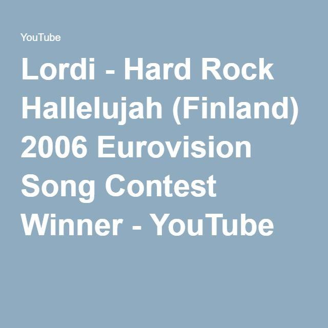 Lordi - Hard Rock Hallelujah (Finland) 2006 Eurovision Song Contest Winner - YouTube