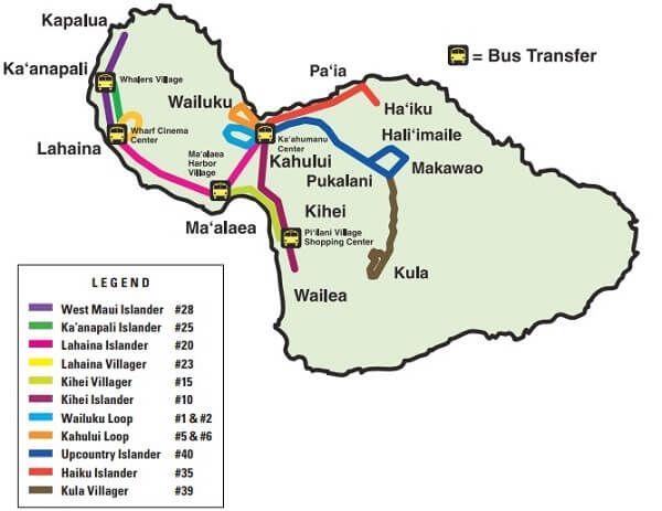 kauai bus route map Getting Around Maui Without A Car Guide To Maui S Public kauai bus route map