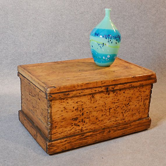 Trunk Coffee Table Pine: Antique Blanket Chest Trunk Victorian Pine Storage Box