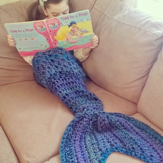 Crochet mermaid tail mermaid blanket mermaid by HandmadebyCCxx