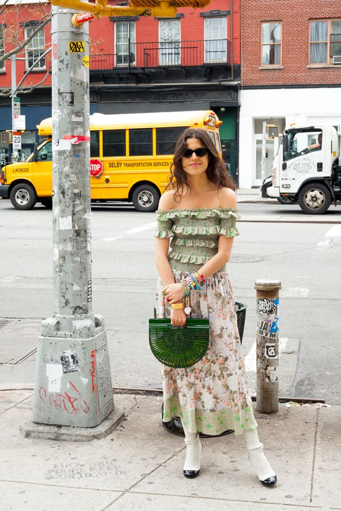 How to wear a spring dress without feeling so girly.