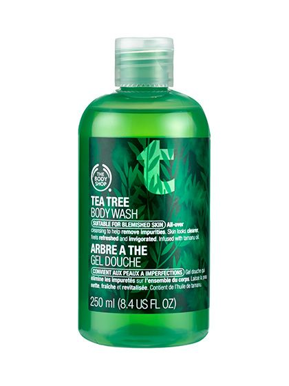 Best of Beauty: How to get rid of oily skin for good—The Body Shop Tea Tree Body Wash fights body blemishes with tea tree oil, which is gentler than most other acne-treating ingredients
