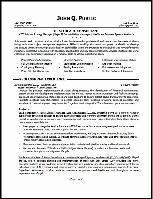 Healthcare Project Manager Resume Fresh Health Care Management Executive Resume Template Colimatres In 2020 Resume Examples Project Manager Resume Job Resume Samples