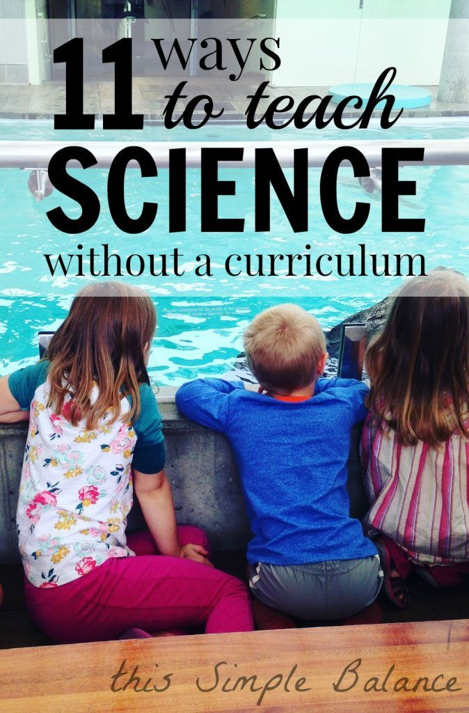 Science is the perfect subject to try a more relaxed homeschool approach. Homeschooling science without curriculum is easy during the elementary school years. Learn several ways to encourage your children to love science (it's not hard!).