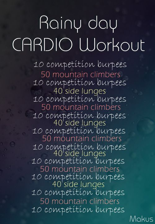 Cardio workout (indoors)