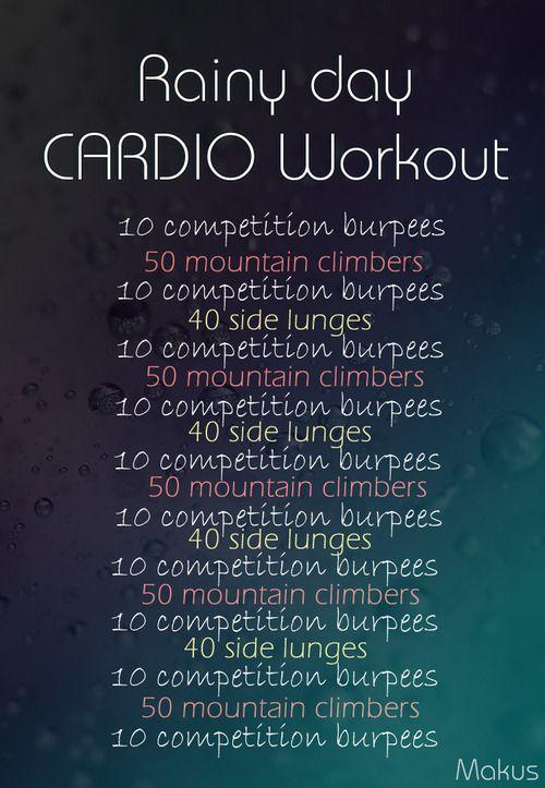 Cardio workout (indoors)