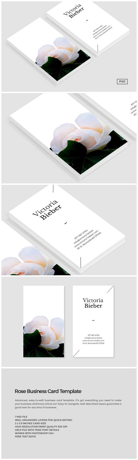 891 best business card template images on pinterest business card rose business card template templates introducing our rose business card template perfect for use in reheart Image collections