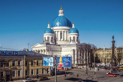 St. Petersburg, Russia> Trinity Cathedral built 1828
