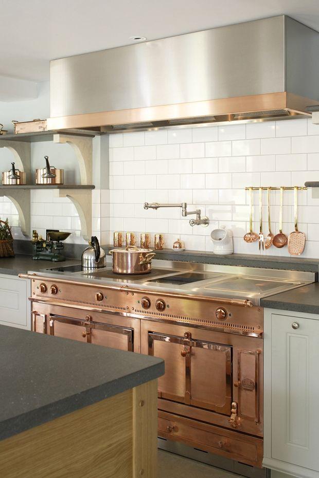 Kitchen Decorating Ideas Copper Kitchen With Le Cornue Stove The Best Copper Kitchen Accessories