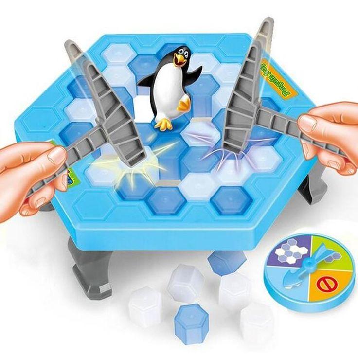 Kids Funny Ice Breaking Save Penguin Game Desktop Penguin Trap Knock Ice Block Toy Kids Early Educational Toys JK887976