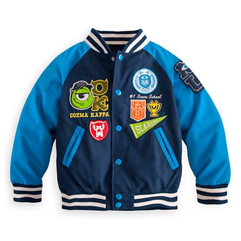 Monsters University Varsity Jacket for Boys | Fleece & Outerwear | Disney Store - $34.50