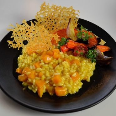 Pumpkin Risotto with Roasted Vegetables