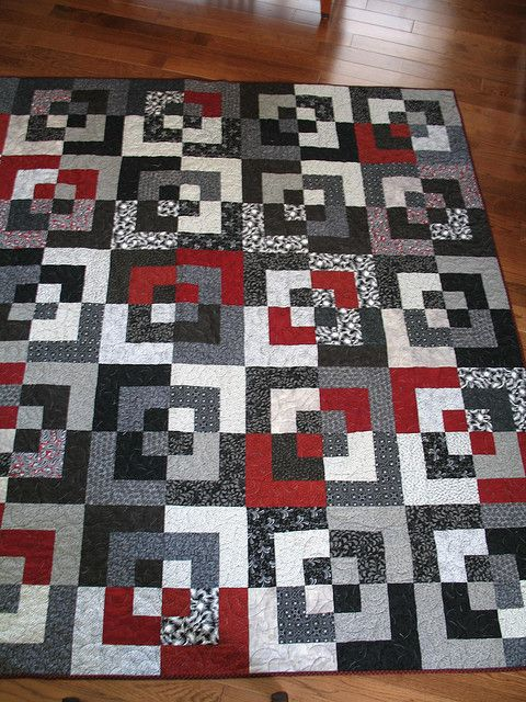 17 best images about a quilt bento box on pinterest for Black white and gray quilt patterns