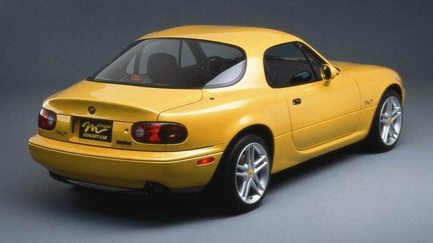 Mazda MX5 (or Miata) hardtop - I don't think this one made it into production but MAN is it beautiful!