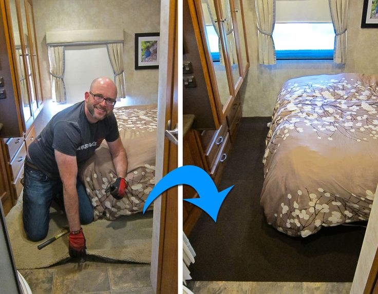 How We Replaced the Carpet in Our RV for Less Than $60.... and in less than 6 hours. It's really true!  See tips for how you can do the same.