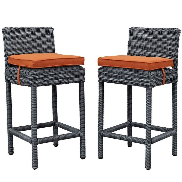 Unique All Weather Wicker Bar Stools
