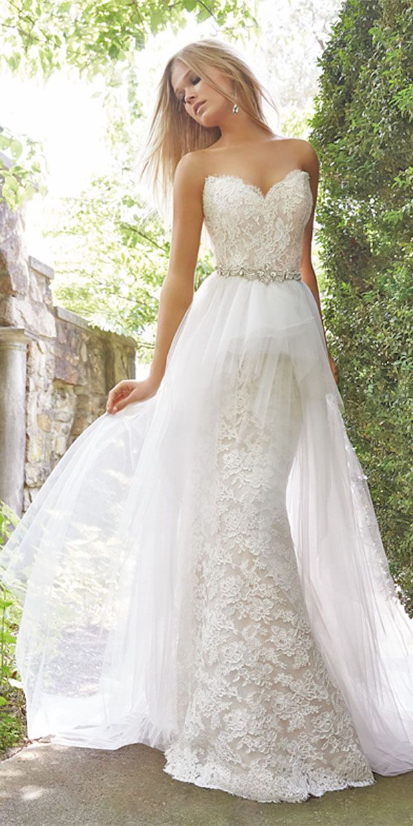 18 Strapless Sweetheart Neckline Wedding Dresses From TOP Designers ❤ See more…