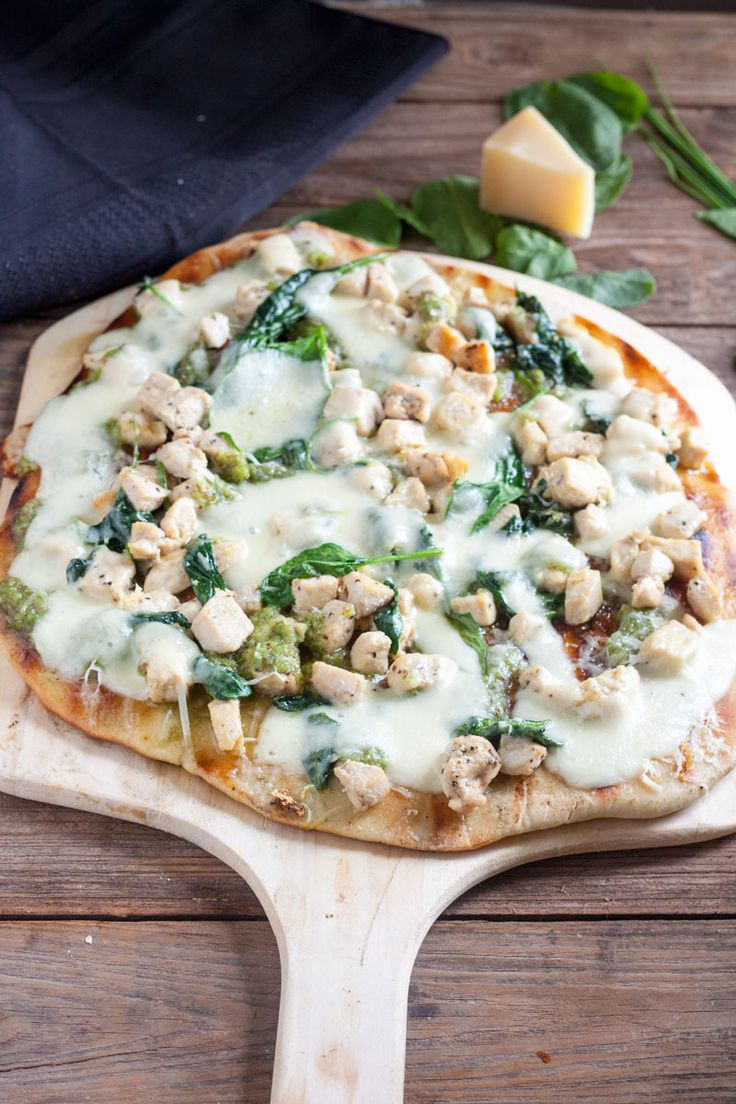 Chicken Florentine Pizza 4