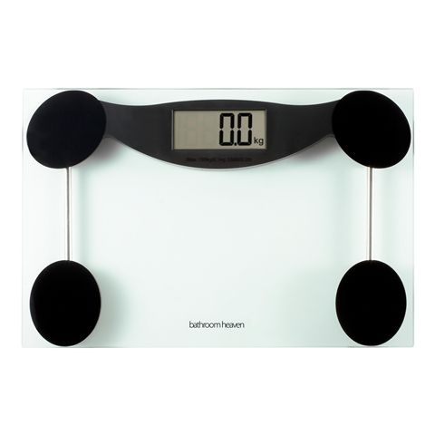 Our bathroom scales are nearly half price in our clearance section. http://www.bathroomheaven.com/bathroom-scales/bathroom-heaven-digital-scales-clear-glass-24562.aspx