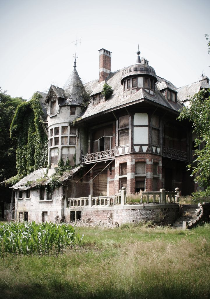 Why don't people build homes that look like this anymore? .... I know it always comes down to money but isn't this amazing? Imagine living here