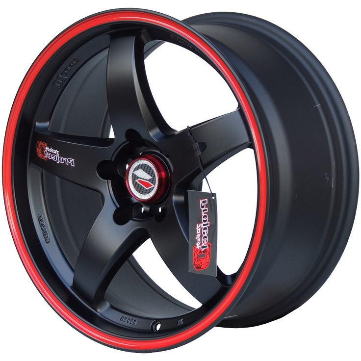 LENSO D1R MATT BLACK  RED PIN STRIPE alloy wheels with stunning look for 4 studd wheels in MATT BLACK  RED PIN STRIPE finish with 15 inch rim size