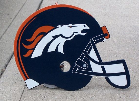 Denver BRONCOS Helmet Wood Decor Realistic Sign by duranduran2946