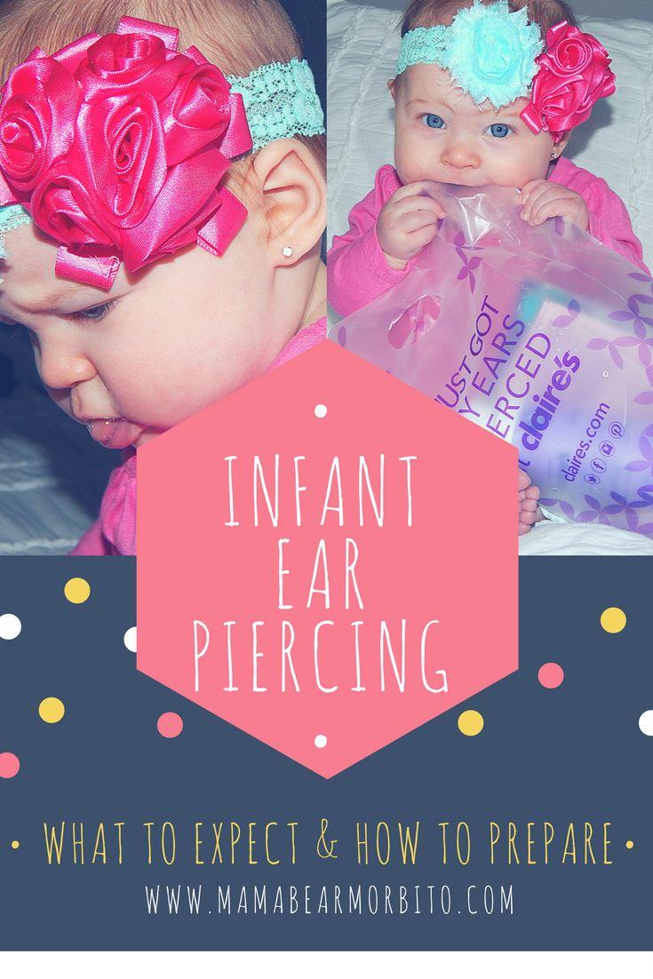 Infant ear piercing