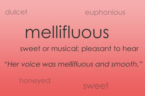 such a soothing word...