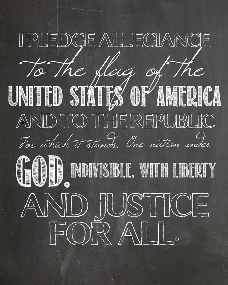 LEARNING, DECOR: Pledge of Allegiance FREE PRINTABLE  ~~  I adore this!  Would look great in the children's rooms or play areas. I love learning tools or products that can also be integrated into the decor -- instills the idea that learning is part of everyday life. I find that the little ones then are not so overwhelmed at new steps in their education. @The Mamas Girls