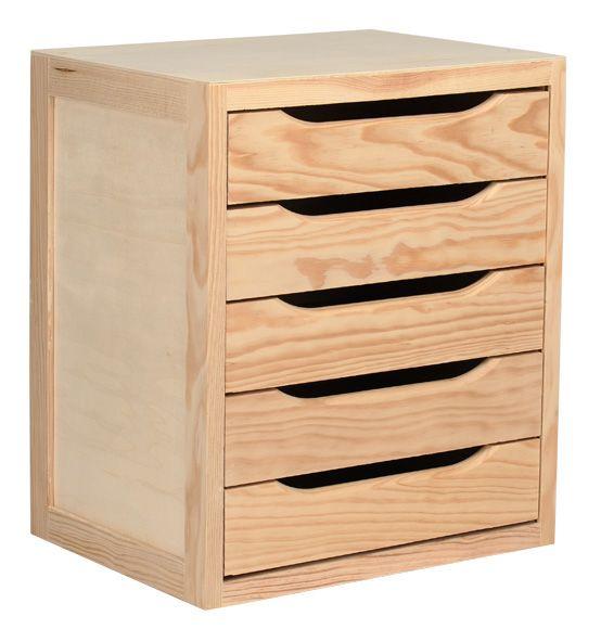 Las 25 mejores ideas sobre cajoneras de madera en for Muebles pino natural