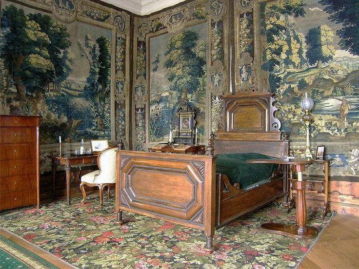 The Český Krumlov Castle, the Castle No. 59- Upper Castle, the Guided Tour No. 2, the Bedroom of Princess Eleonora