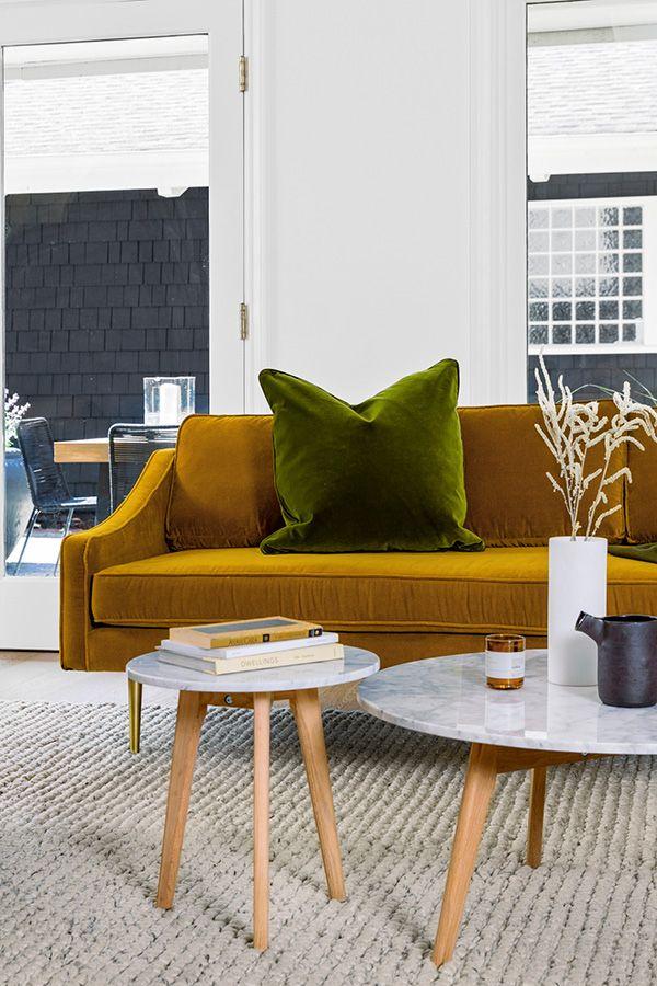 mirage yarrow gold sofa in 2019 color gold sofa sofa article sofa rh pinterest com