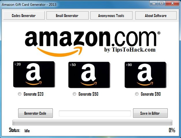 amazon gift card code generator download for pc
