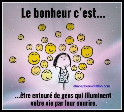 Le bonheur c'est être entouré de gens qui illuminent votre vie par leur sourire. - Nous sous-estimons souvent le pouvoir d'un contact, d'un sourire, d'un mot gentil, d'une oreille attentive, d'un compliment sincère, ou d'une moindre attention ; ils ont tous le po