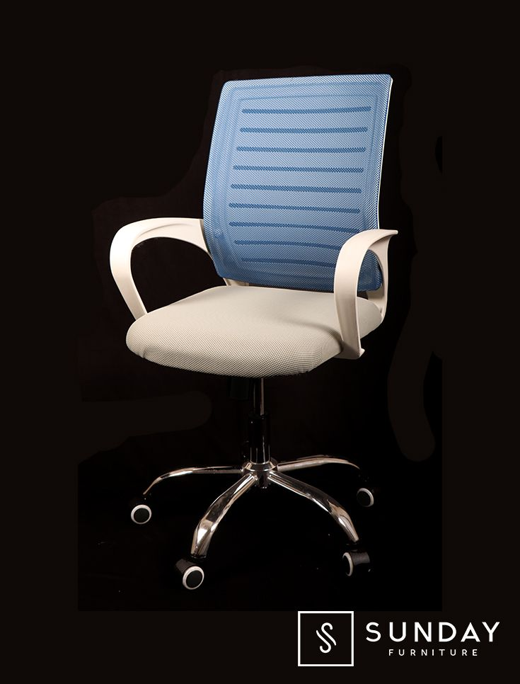 Kingsman Blue | Sunday Furniture Sleek And Modish Chair That Takes You One  Step Closer For Making Office Comfortable And Stress Free.