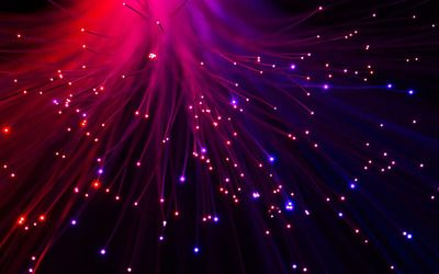 Optical fiber lamp wallpaper