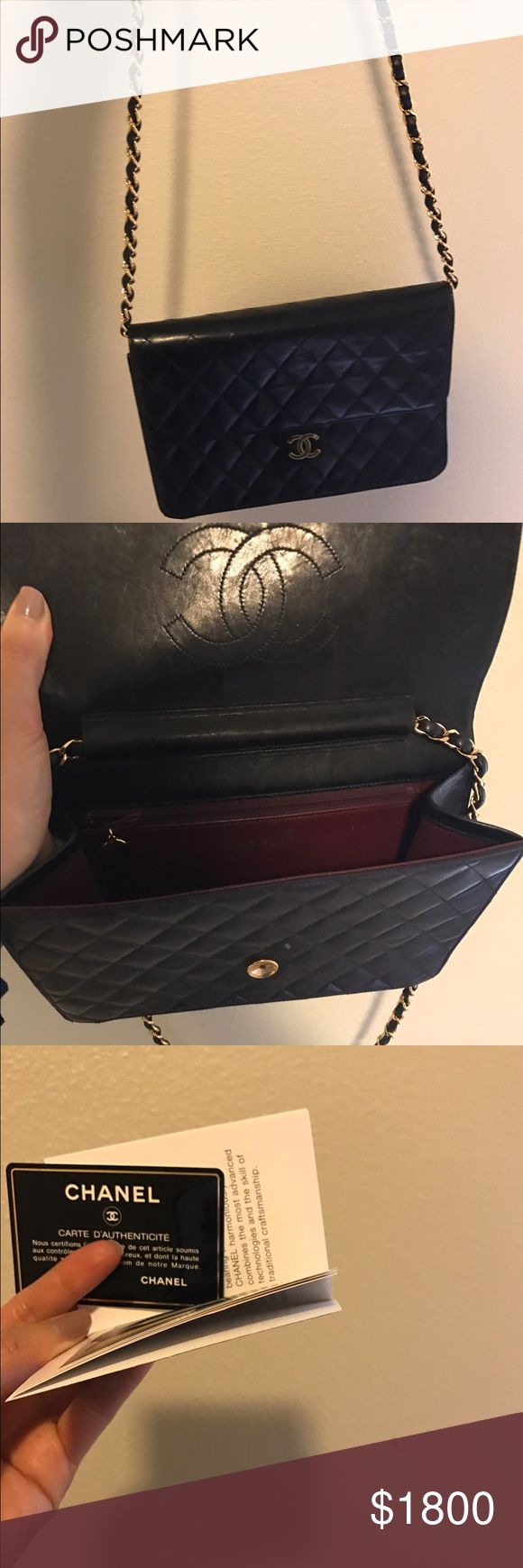 Medium Chanel single flap lamb skin Good condition and classic Chanel bag. Comes with carte d'authenticite and dust bag. Classic that never goes out of style and can be passed into generations. CHANEL Bags