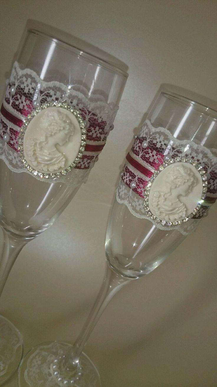 Купить Свадебные бокалы - свадебные бокалы, бокалы для свадьбы, бокалы для молодоженов, бокалы для шампанского