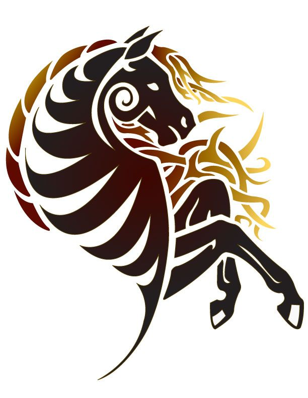 horse art | Tribal Horse: Final by ~CoyoteHills on deviantART... ♥ Repinned with gratitude by www.DressageWaikato.co.nz ♥ ...