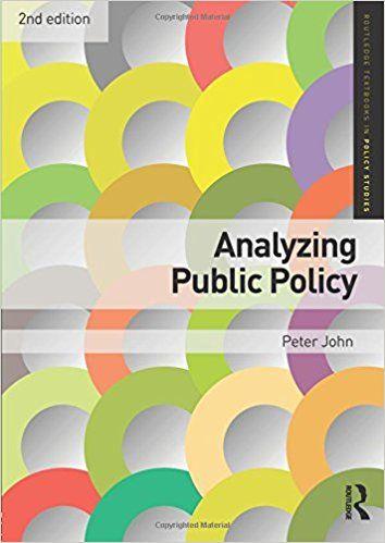 Analyzing public policy / Peter John