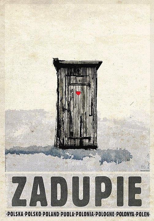Zadupie, plakat z serii Polska, Ryszard Kaja