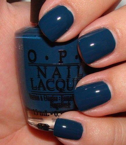 navyNail Polish, Fall Colors, Nail Colors, Fall Nails Colors, Nails Polish, Opi Ski, Navy Nails, Ski Teal, Blue Nails