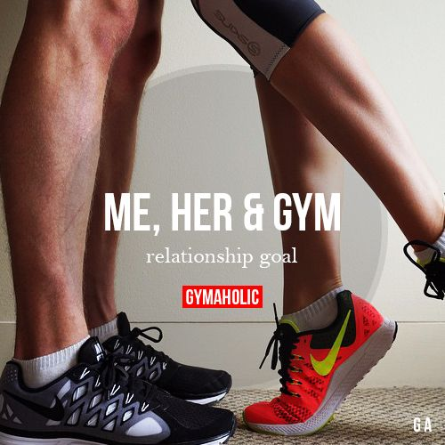 Me, Her And Gym Relationship goal. Fitness couple to its finest! More motivation…