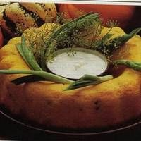 Parmesan Squash Ring With Dill Sauce Recipe on WeGottaEat