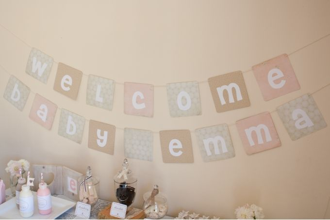 Welcome Baby Bunting (Personalised) by Pop! Events Decor