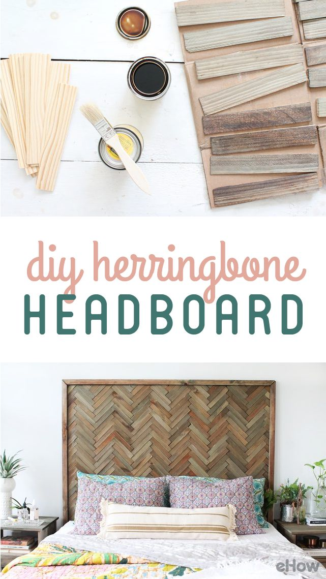 Need a headboard for your bed? DIY this Herringbone headboard! Wood shims are sold in packages of 12 for under $2 dollars, so they can be purchased in large quantities without breaking the bank. The finished product is rich in texture and adds visual interest to my space. Easy tutorial here! http://www.ehow.com/how_12343648_diy-herringbone-headboard-wood-shims.html?utm_source=pinterest.com&utm_medium=referral&utm_content=freestyle&utm_campaign=fanpage