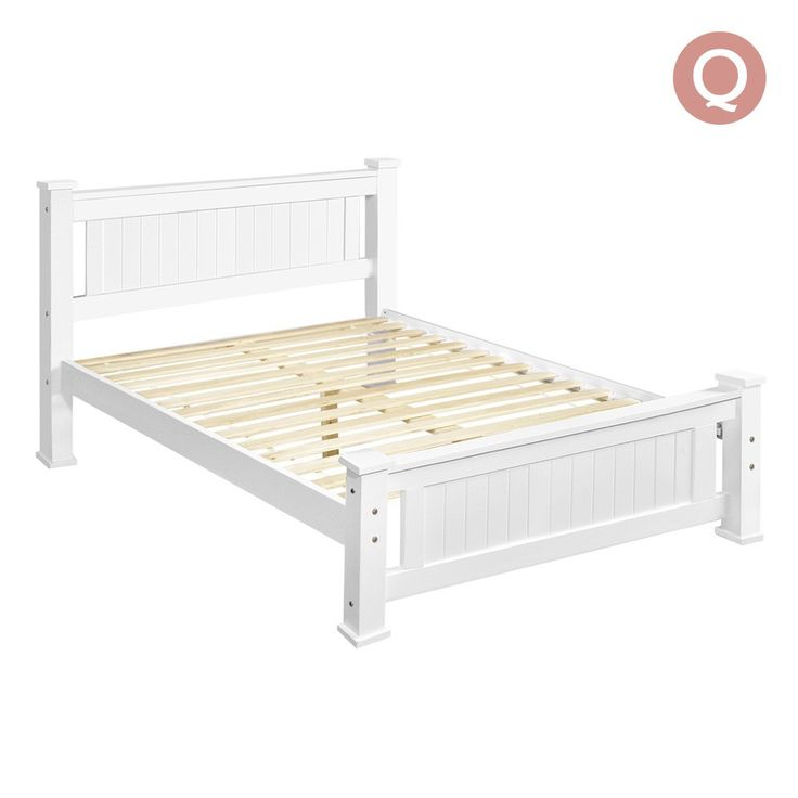 Queen Bed Frame Solid Pine Wood Timber w/ Slats