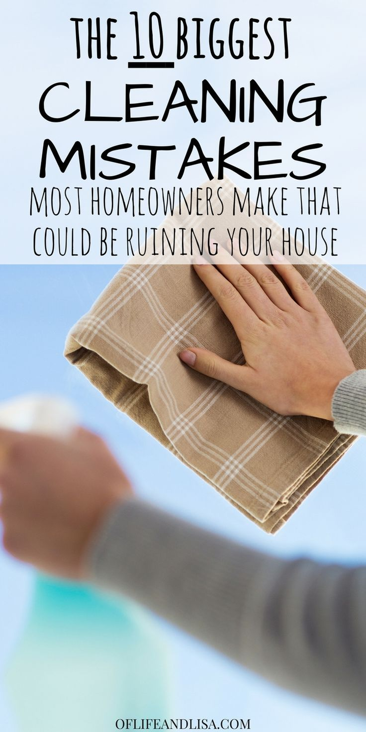 I am guilty of several of these. I really need to remember these tips so I don't make them again! Repin! #home #family #life #cleaning #diy #tdy