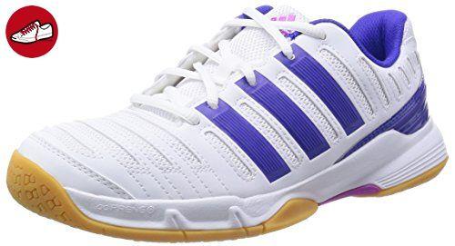 adidas Performance Essence 11 Damen Hallenschuhe, Weiß (Ftwr White/Night Flash S15/Flash Pink S15), 36 2/3 EU - Adidas sneaker (*Partner-Link)