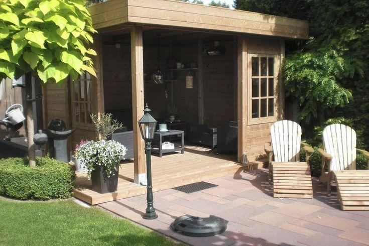 Leuk prieel met een plat dak compleet op maat gefabriceerd - Prieel tuin ...